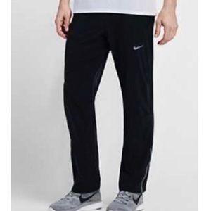 Nike Dri Fit Running Pants Zip Back Sz Large Black